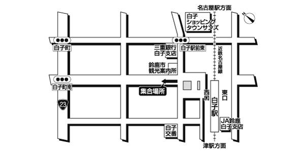 近鉄白子駅西広域地図