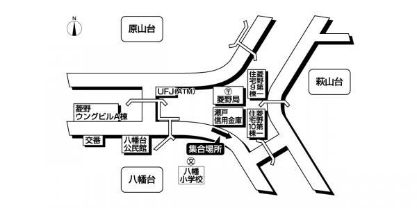 菱野団地<br>瀬戸信用金庫西側広域地図