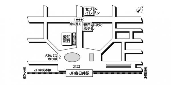 JR春日井駅<br>愛知銀行前広域地図
