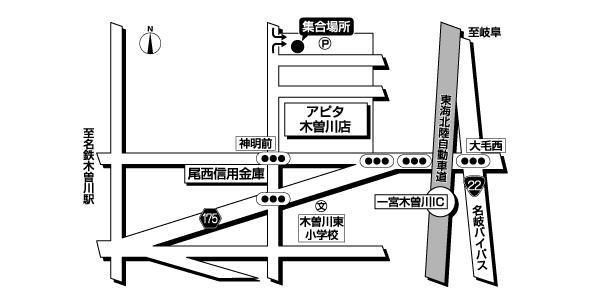 アピタ木曽川店広域地図