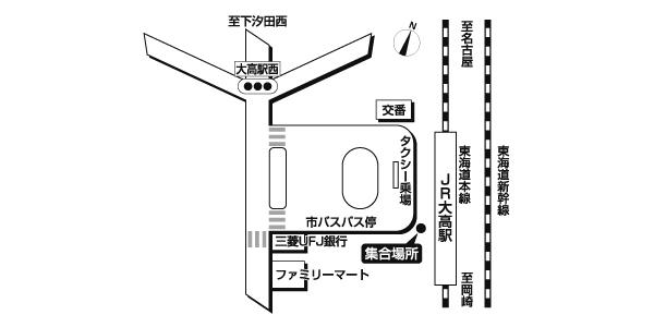 JR大高駅前広域地図