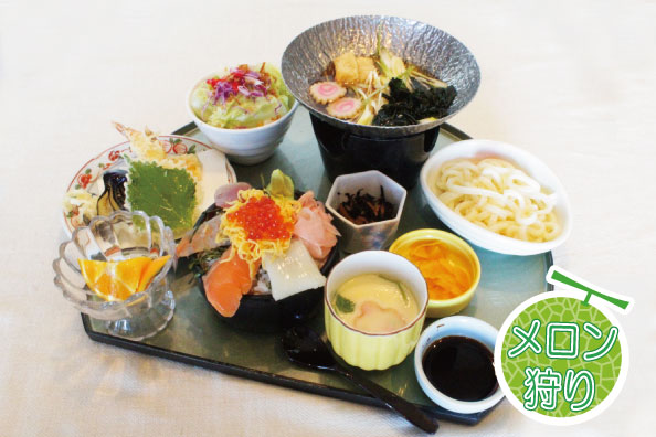 [日帰り]伊良湖メロン狩りと海鮮花ちらし寿司膳【2ポイント】